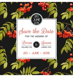 Invitation and Congratulation Card - for Wedding vector image vector image