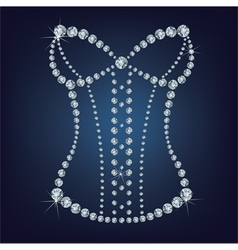 Ladys sexy corset made from diamonds vector image vector image