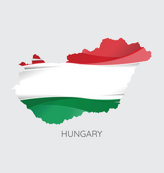 map of hungary vector image