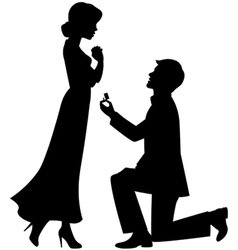Marriage proposal vector