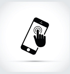 mobile phone touch screen click vector image