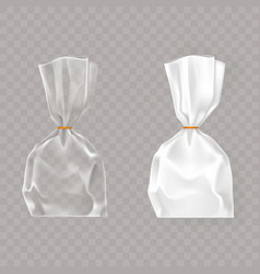 set of realistic of plastic vector image vector image