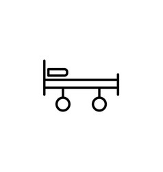 stretcher bed on wheels icon on white background vector image vector image