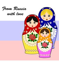 Traditional russian matryoschka dolls vector image