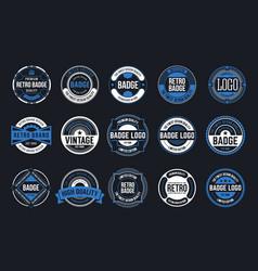 15 retro vintage badges design collection vector image