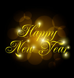 2018 new year shining banner vector image
