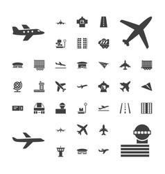 37 plane icons vector