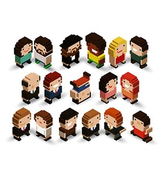 3d people vector