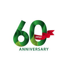60 year anniversary template design vector