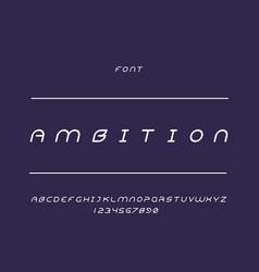 ambition font alphabet vector image