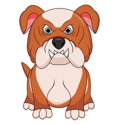 angry bulldog dog cartoon vector image