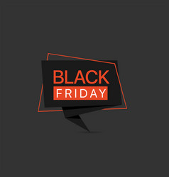 black friday black red label template vector image
