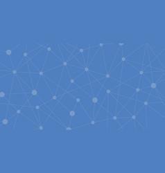 blue internet connection molecular abstract vector image