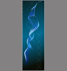 Blue light x banner background vector