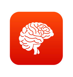 brain icon digital red vector image