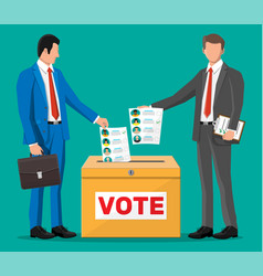 Business people on election vector
