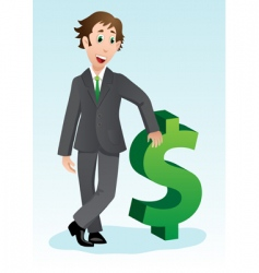 businessman with dollar sign vector image