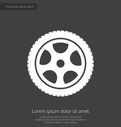 Car wheel premium icon vector