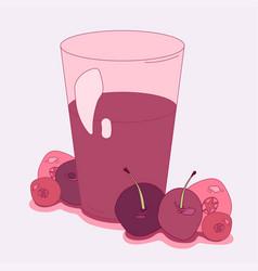 Cherry cranberry juice vector