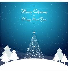 Christmas background landscape vector