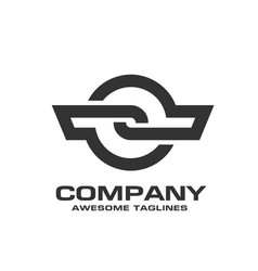 circle technology lines connect idea logo vector image