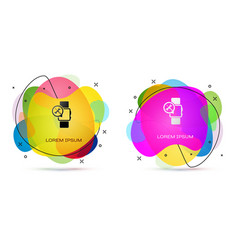 Color smartwatch with screwdriver and wrench icon vector