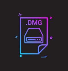 Dmg application download file files format icon vector