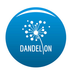 Dried dandelion logo icon blue vector