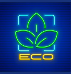 eco symbol icon with green vector image
