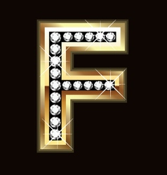 f bling vector image vector image