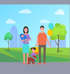 family day father and mother vector image