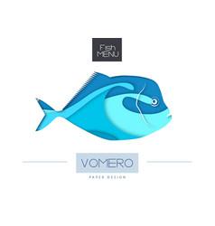 fish vomero silhouette vector image