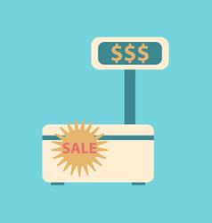 Flat icon of cash machine sale discounts vector