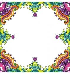floral frame floral vector image