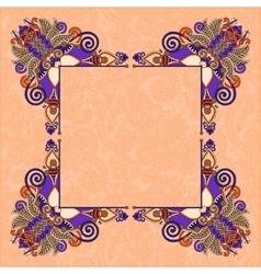 Floral vintage decorative ethnic frame ukrainian vector