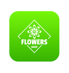 flower plant icon green vector image