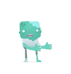funny cartoon zombie vector image