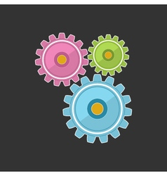 Gears isolated on gray background vector
