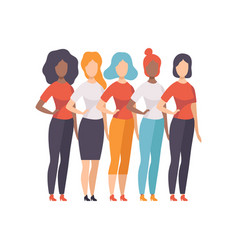 Girls of different nationalities and cultures vector
