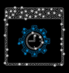 Gold square pattern clock configuration gear vector