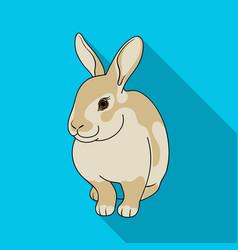 gray rabbitanimals single icon in flat style vector image