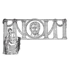 Greek philosophers it highest excellence vintage vector