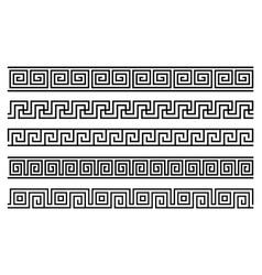 Greek roman pattern border decorative ornament vector