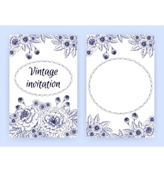Greeting card with marigolds Floral template vector