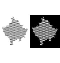 Halftone kosovo map vector