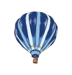 hand drawn sketch hot air balloon in color vector image