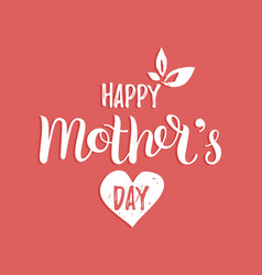 happy mothers day greeting card vector image