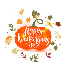 Happy thanksgiving pumpkin icon fall vector