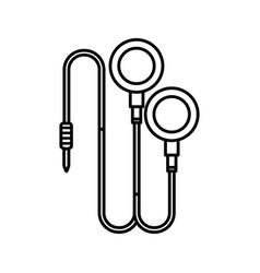 Headphones sound isolated icon vector