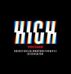 High voltage style font design alphabet letters vector